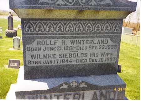 SIEBOLDS WINTERLAND, WILMKE - Ogle County, Illinois   WILMKE SIEBOLDS WINTERLAND - Illinois Gravestone Photos