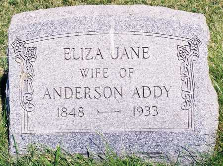 ADDY, ELIZA JANE - Peoria County, Illinois | ELIZA JANE ADDY - Illinois Gravestone Photos