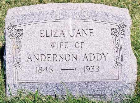ADDY, ELIZA JANE - Peoria County, Illinois | ELIZA JANE ADDY - Illinois Gravestone Photos