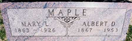 WHEELER MAPLE, MARY LOUISE - Peoria County, Illinois | MARY LOUISE WHEELER MAPLE - Illinois Gravestone Photos