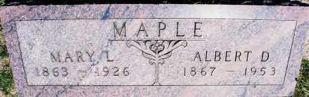 MAPLE, ALBERT DOUGLAS - Peoria County, Illinois | ALBERT DOUGLAS MAPLE - Illinois Gravestone Photos