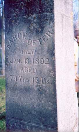 DETER, AARON - Piatt County, Illinois | AARON DETER - Illinois Gravestone Photos