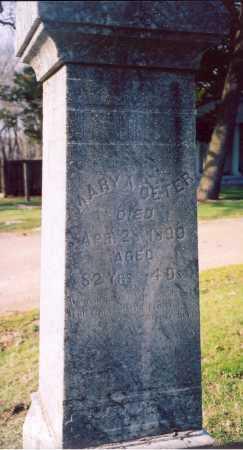 DETER, MARY ANN - Piatt County, Illinois | MARY ANN DETER - Illinois Gravestone Photos