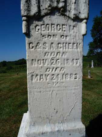 CHEEK, GEORGE M. - Pike County, Illinois | GEORGE M. CHEEK - Illinois Gravestone Photos