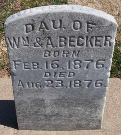 BECKER, AUGUSTA - Rock Island County, Illinois   AUGUSTA BECKER - Illinois Gravestone Photos