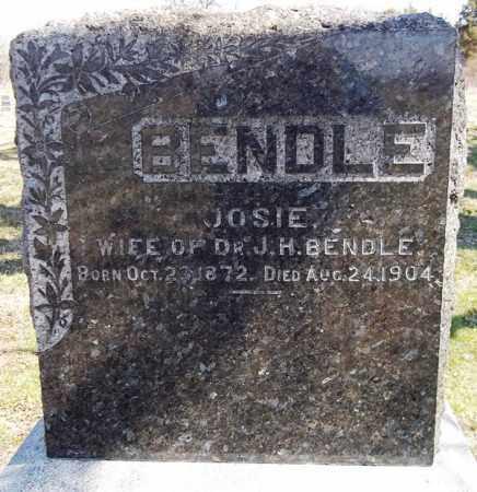BENDLE, JOSIE - Rock Island County, Illinois   JOSIE BENDLE - Illinois Gravestone Photos
