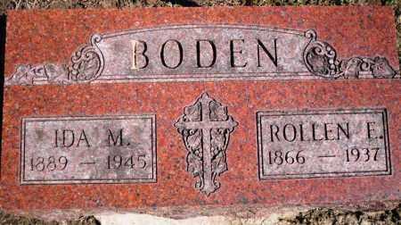 BODEN, ROLLEN E. - Rock Island County, Illinois | ROLLEN E. BODEN - Illinois Gravestone Photos