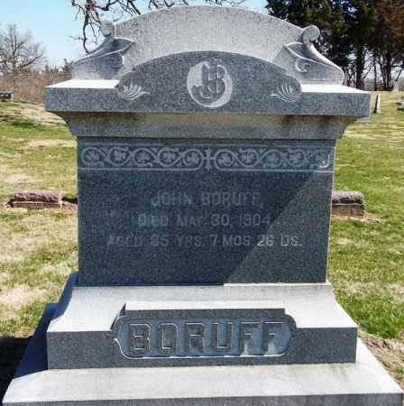 BORUFF, JOHN - Rock Island County, Illinois | JOHN BORUFF - Illinois Gravestone Photos