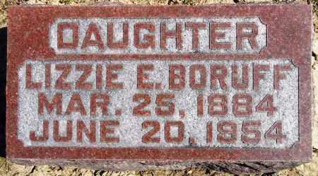 BORUFF, LIZZIE E. - Rock Island County, Illinois | LIZZIE E. BORUFF - Illinois Gravestone Photos