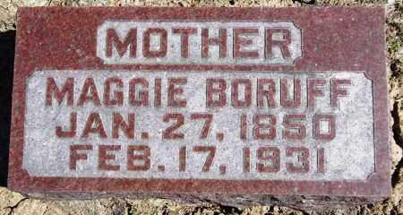 BORUFF, MAGGIE - Rock Island County, Illinois | MAGGIE BORUFF - Illinois Gravestone Photos