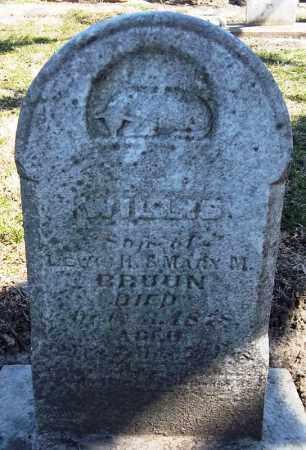 BRUUN, WILLIS - Rock Island County, Illinois | WILLIS BRUUN - Illinois Gravestone Photos