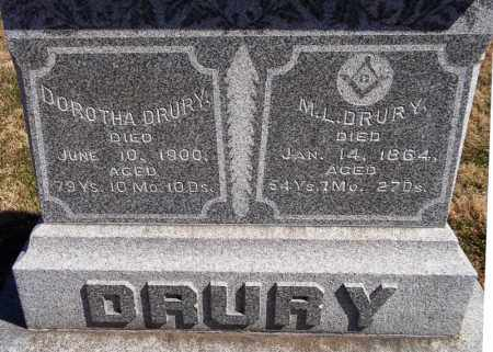 DRURY, DOROTHA - Rock Island County, Illinois | DOROTHA DRURY - Illinois Gravestone Photos