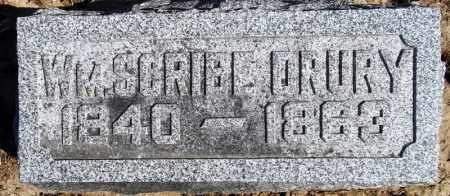 DRURY, WILLIAM SCRIBE - Rock Island County, Illinois | WILLIAM SCRIBE DRURY - Illinois Gravestone Photos