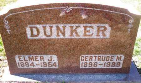 DUNKER, GERTRUDE M. - Rock Island County, Illinois | GERTRUDE M. DUNKER - Illinois Gravestone Photos