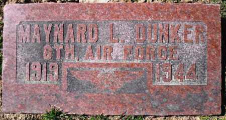 DUNKER, MAYNARD L. - Rock Island County, Illinois   MAYNARD L. DUNKER - Illinois Gravestone Photos