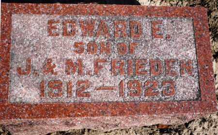 FRIEDEN, EDWARD E. - Rock Island County, Illinois | EDWARD E. FRIEDEN - Illinois Gravestone Photos