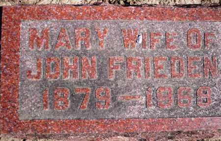 FRIEDEN, MARY - Rock Island County, Illinois | MARY FRIEDEN - Illinois Gravestone Photos