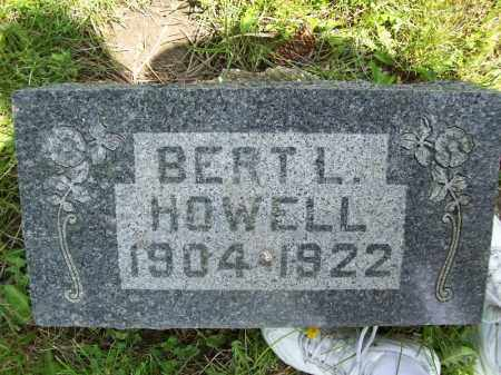 HOWELL, BERT L. - Schuyler County, Illinois | BERT L. HOWELL - Illinois Gravestone Photos