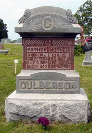 CULBERSON, ANDREW JACKSON - Shelby County, Illinois | ANDREW JACKSON CULBERSON - Illinois Gravestone Photos