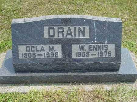 HAMILTON DRAIN, OCLA M - Shelby County, Illinois | OCLA M HAMILTON DRAIN - Illinois Gravestone Photos