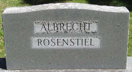 ROSENSTIEL, FAMILY - Stephenson County, Illinois   FAMILY ROSENSTIEL - Illinois Gravestone Photos