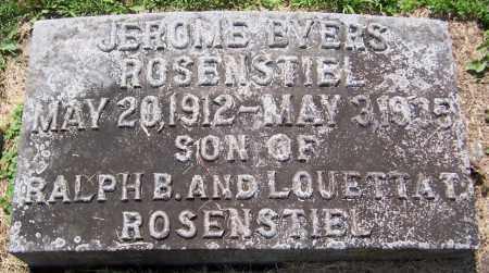 ROSENSTIEL, JEROME BYERS - Stephenson County, Illinois | JEROME BYERS ROSENSTIEL - Illinois Gravestone Photos