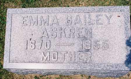 ASKREN, EMMA BAILEY - Tazewell County, Illinois | EMMA BAILEY ASKREN - Illinois Gravestone Photos