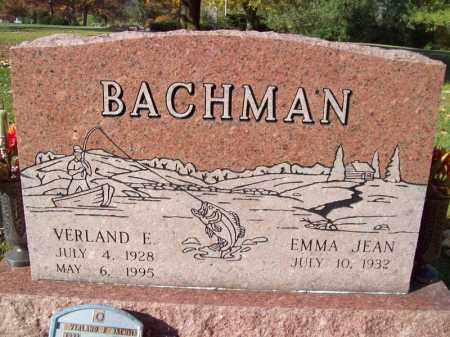 BACHMAN, VERLAND E - Tazewell County, Illinois | VERLAND E BACHMAN - Illinois Gravestone Photos