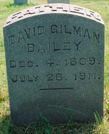 BAILEY, DAVID GILMAN - Tazewell County, Illinois | DAVID GILMAN BAILEY - Illinois Gravestone Photos