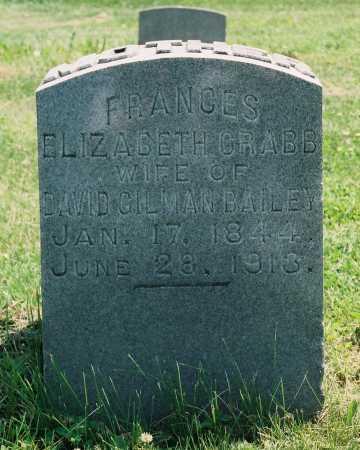 CRABB BAILEY, FRANCES ELIZABETH - Tazewell County, Illinois   FRANCES ELIZABETH CRABB BAILEY - Illinois Gravestone Photos