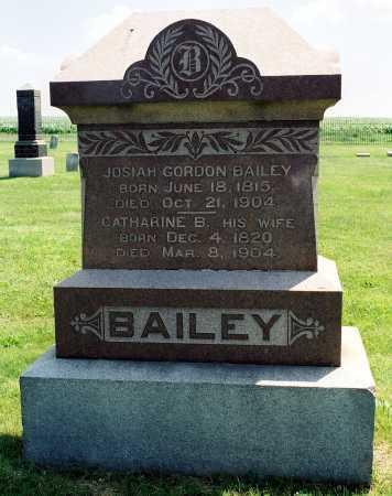 BAILEY, JOSIAH G. - Tazewell County, Illinois   JOSIAH G. BAILEY - Illinois Gravestone Photos