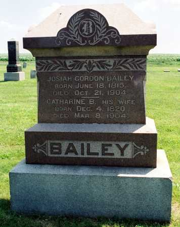 BAILEY, JOSIAH G. - Tazewell County, Illinois | JOSIAH G. BAILEY - Illinois Gravestone Photos