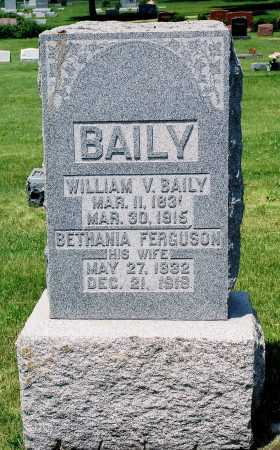 BAILY, WILLIAM V. - Tazewell County, Illinois | WILLIAM V. BAILY - Illinois Gravestone Photos