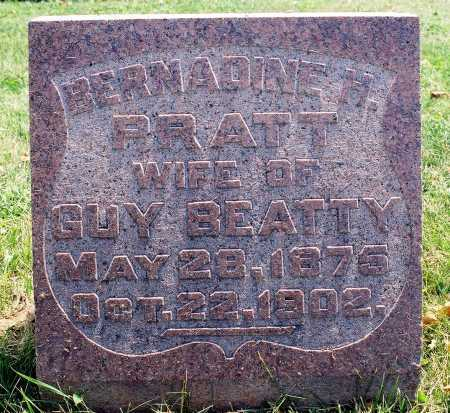 PRATT BEATTY, BERNADINE M. - Tazewell County, Illinois | BERNADINE M. PRATT BEATTY - Illinois Gravestone Photos