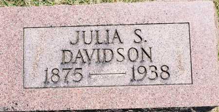 DAVIDSON, JULIA S. - Tazewell County, Illinois | JULIA S. DAVIDSON - Illinois Gravestone Photos
