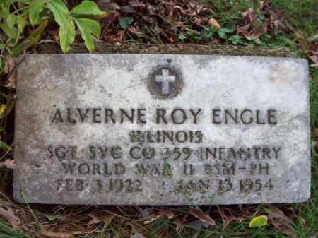 ENGLE, ALVERNE ROY - Tazewell County, Illinois   ALVERNE ROY ENGLE - Illinois Gravestone Photos