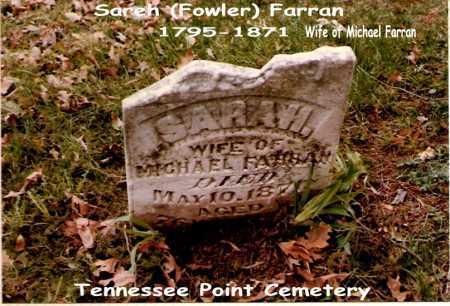 FARRAN, SARAH - Tazewell County, Illinois | SARAH FARRAN - Illinois Gravestone Photos