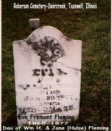 FLEMING, EVE - Tazewell County, Illinois | EVE FLEMING - Illinois Gravestone Photos