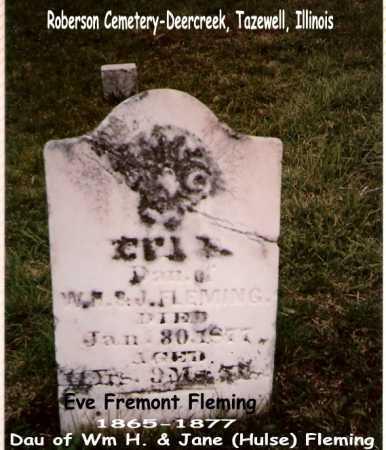FLEMING, EVE - Tazewell County, Illinois | EVE FLEMING - Illinois Gravestone Photos