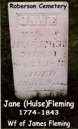 (HULSE FLEMING, JANE - Tazewell County, Illinois | JANE (HULSE FLEMING - Illinois Gravestone Photos