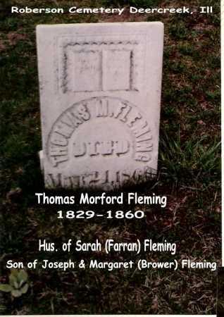 FLEMING, THOMAS M. - Tazewell County, Illinois | THOMAS M. FLEMING - Illinois Gravestone Photos