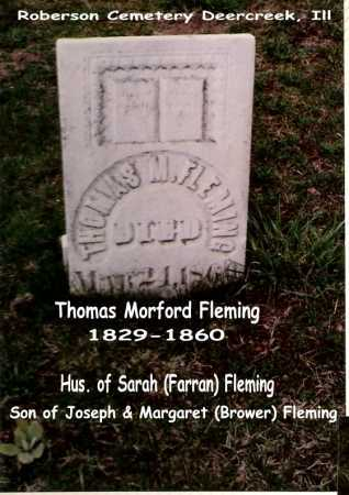 FLEMING, THOMAS M. - Tazewell County, Illinois   THOMAS M. FLEMING - Illinois Gravestone Photos