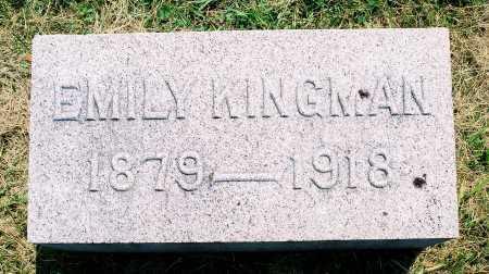 KINGMAN, EMILY - Tazewell County, Illinois | EMILY KINGMAN - Illinois Gravestone Photos