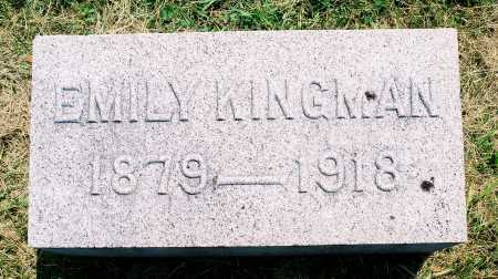 KINGMAN, EMILY - Tazewell County, Illinois | EMILY KINGMAN - Illinois Gravestone Photos