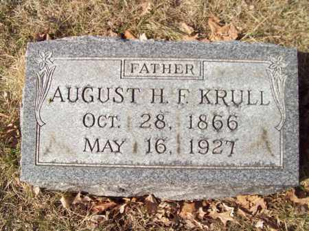 KRULL, AUGUST H F - Tazewell County, Illinois | AUGUST H F KRULL - Illinois Gravestone Photos