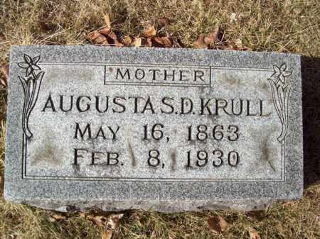 KRULL, AUGUSTA S D - Tazewell County, Illinois | AUGUSTA S D KRULL - Illinois Gravestone Photos
