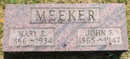 MEEKER, MARY ELIZABETH - Tazewell County, Illinois | MARY ELIZABETH MEEKER - Illinois Gravestone Photos