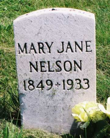 NELSON, MARY JANE - Tazewell County, Illinois | MARY JANE NELSON - Illinois Gravestone Photos