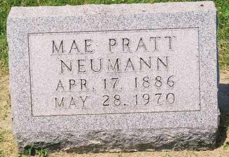 PRATT NEUMANN, MAE - Tazewell County, Illinois | MAE PRATT NEUMANN - Illinois Gravestone Photos
