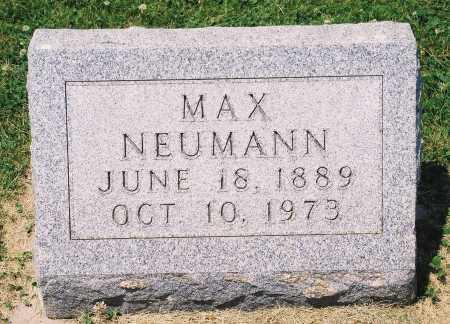 NEUMANN, MAX - Tazewell County, Illinois | MAX NEUMANN - Illinois Gravestone Photos